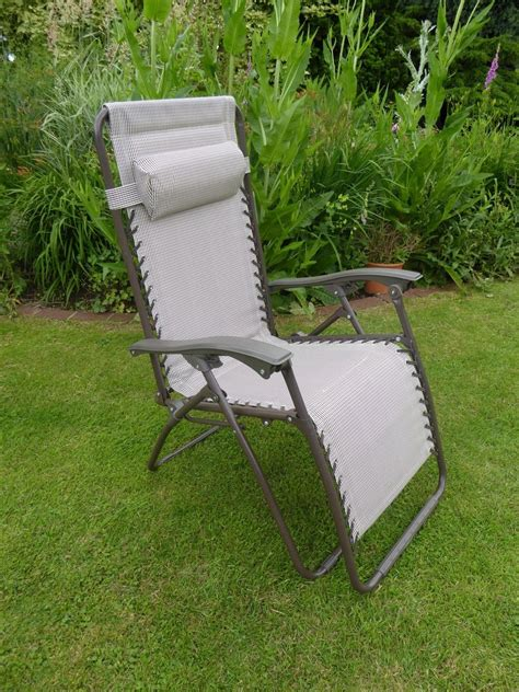 garden reclining chairs garden chair padded beige sun lounger recliner chairs