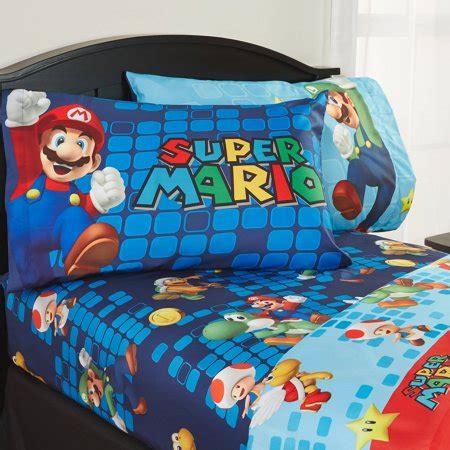 super mario pillowcase mario sheet set walmart