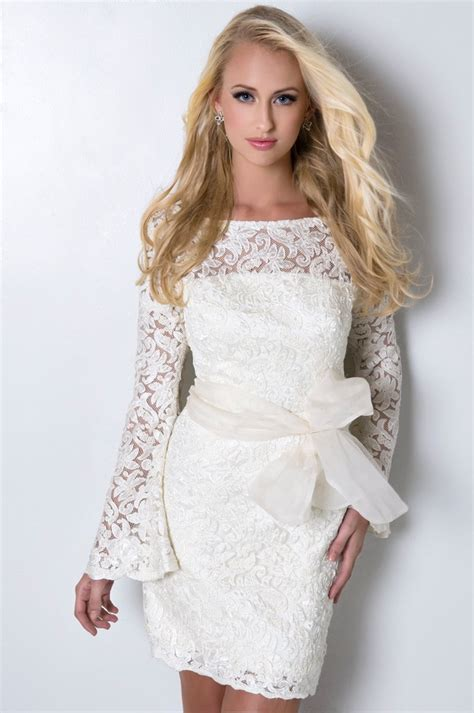 White Sort Wedding Dresses by White Lace Bridal Dress A Trusted Wedding Source