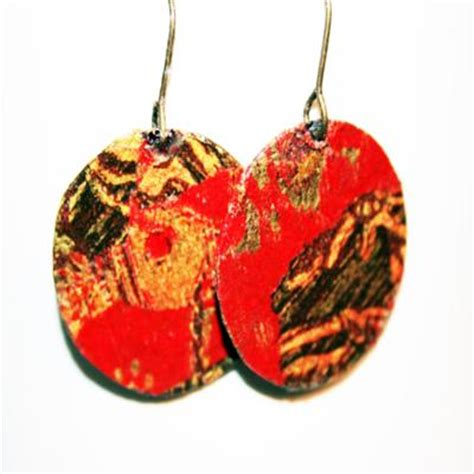 decoupage earrings jewelry journal