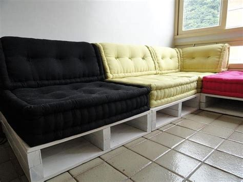 pallet sectional sofa cushions 13 diy sofas made from pallet diy sofa and wood pallet