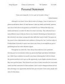 Sample Personal Statement For Postgraduate Application