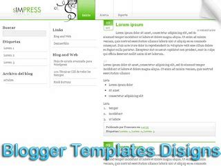theme blog xml simpress blogger templates