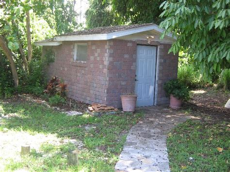 Shed On Cinder Blocks by Bricks On Concrete Porch