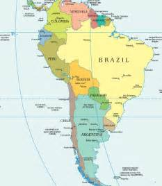 map of all the countries in south america speaking countries and capitals map wesharepics