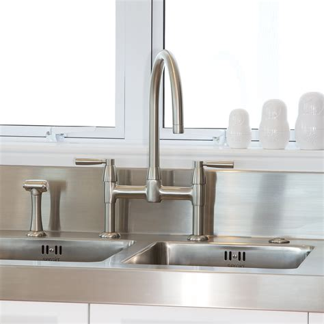 Kitchen Collection Handles Io Two Sink Mixer With Lever Handles And Rinse