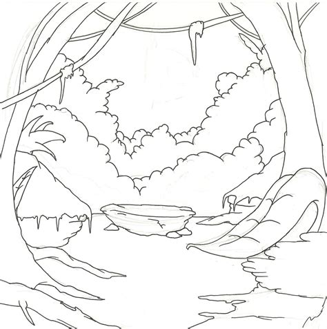 coloring book jungle background image gallery jungle background drawing