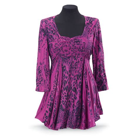 Pyramid Tunic Dress magenta leopard tunic women s clothing from the pyramid just