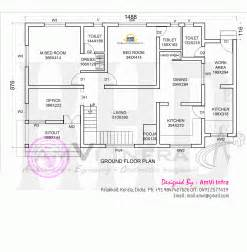 Elevation Floor Plan floor plan and elevation of modern house kerala home