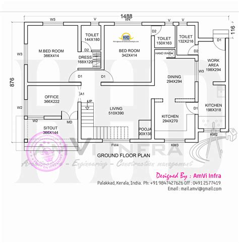Floor Plan  Elevation  Modern House Home Kerala Plans