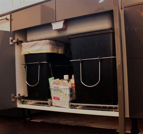 double trash pullout 30 quart wood 4wcbm 2430dm 2 by rev a shelf waste containers rev a shelf waste containers