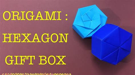 Origami Hexagonal Gift Box - hexagon gift box origami easy craft my crafts and diy