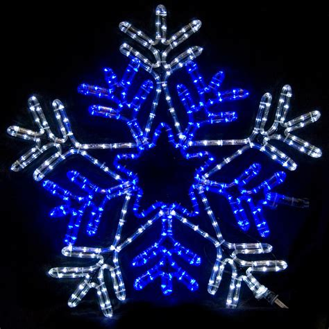 Snowflake Outdoor Lights Snowflakes 26 Quot Snowflake With Blue Center