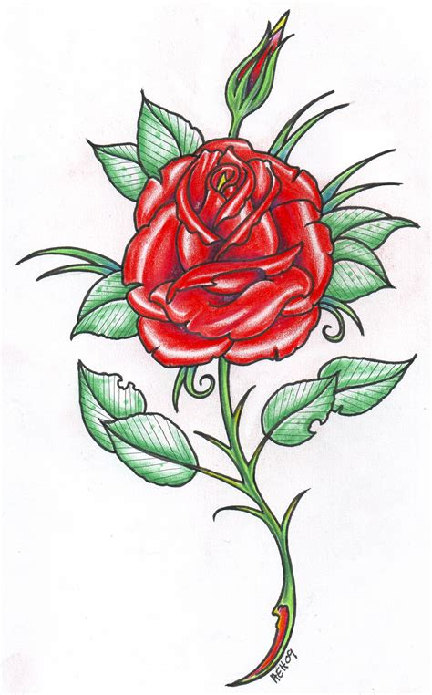 red roses tattoo design design