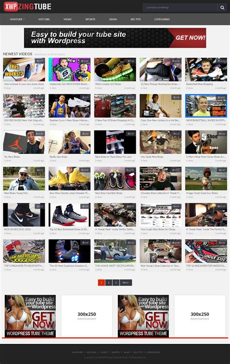 wordpress theme x demo zingtube wordpress video responsive theme wordpress tube