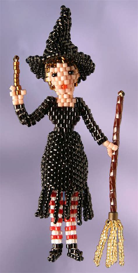 beaded doll 3d beaded witch doll pattern bead patterns