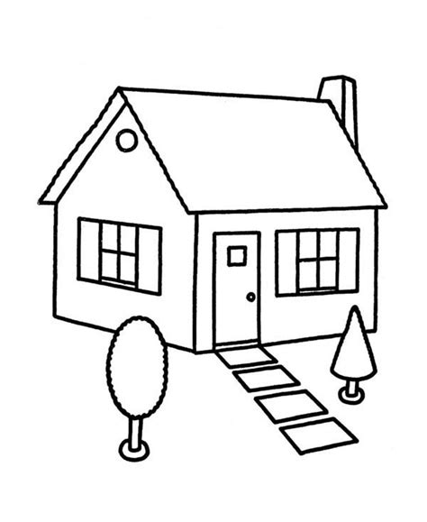 Coloring Page Up House by Sketch House In Houses Coloring Page Color
