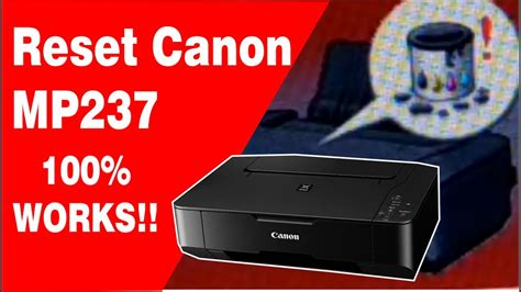Reset Printer Canon Mp237 Error 1401 | reset canon mp237 how to fix canon mp237 error 5b00