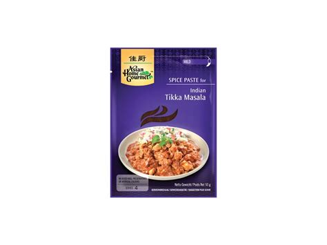 Indian Tikka Masala 50gr By Asian Home Gourmet indick 233 tikka masala pasta 50 g asian home gourmet
