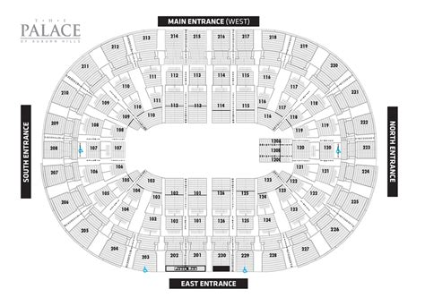 palace of auburn hills floor plan palace of auburn hills concert seating chart car