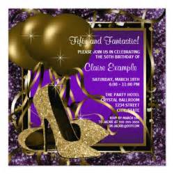 Purple And Gold Birthday Decorations by Purple And Gold High Heels Womans Birthday 5 25x5 25