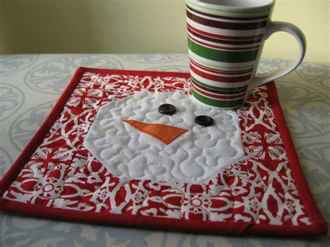 free mug rug pattern snowman mug rug tutorial allcrafts free crafts update