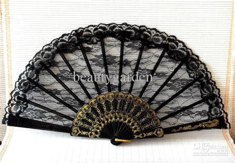 fancy hand fans wholesale wedding black gothic ladies lace hand fan elegant