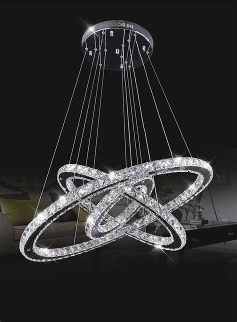 Steel Chandelier Stainless Steel 3 Circles 145w Led Chandelier Ring
