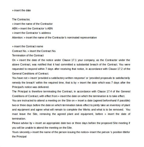 termination letter to contract 20 contract termination letter templates pdf doc