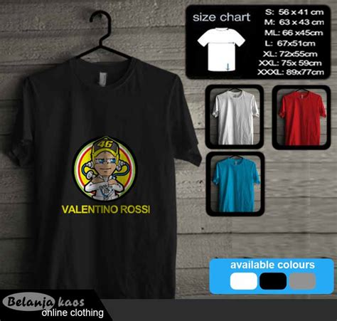 kaos valentino the doctor vr4603 baju kaos distro