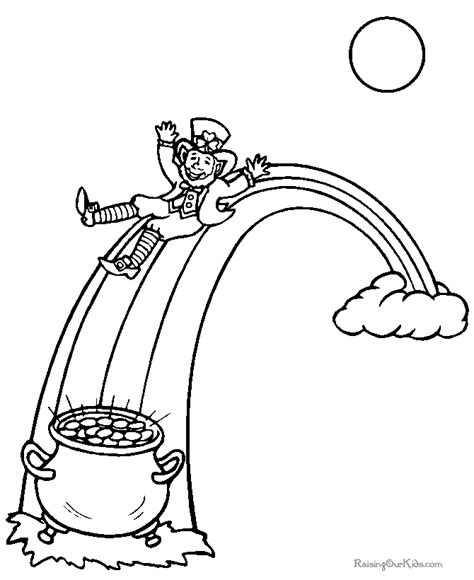 rainbow and pot of gold coloring page coloring home