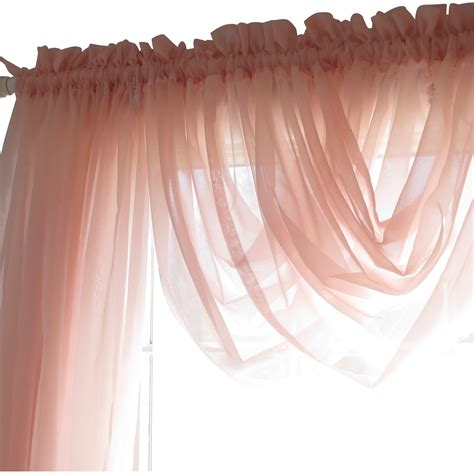 transparent window curtains beautiful tea rose vintage shabby chic jcpenney sheer