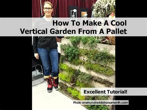 How To Make A Vertical Pallet Garden How To Make A Cool Vertical Garden From A Pallet