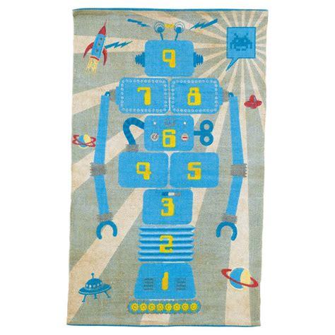 robot rug children s robot hopscotch rug maisons du monde