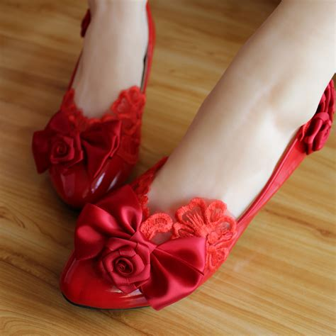 Handmade Bridal Shoes - handmade bridal shoes flat heel bow wedding shoes