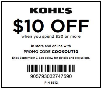 save $10 off a $30 purchase at kohl's ftm