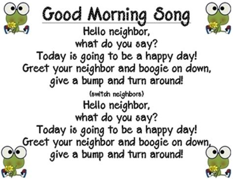 greeting song best 25 morning song ideas on circle