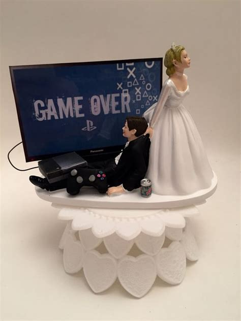Hochzeitstorte Playstation by Wedding Cake Toppers Wedding Cakes And
