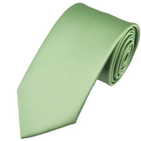 plain green satin tie from ties planet uk