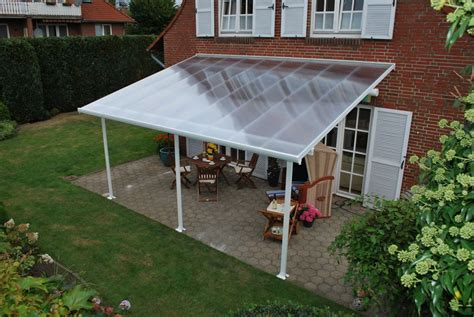 Patio Covers At Home Depot Palram 13 Ft X 20 Ft Feria Patio Cover In White The