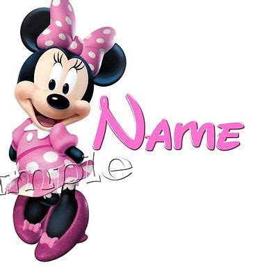 Pillow Printing Baby Minnie Mouse Theme iron on transfer personalised any name pink minnie