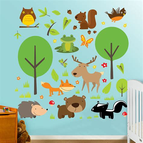 fathead wildlife peel and stick wall graphics - Wildlife Wall Stickers