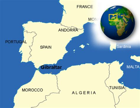 gibraltar on the world map map of gibraltar terrain area and outline maps of