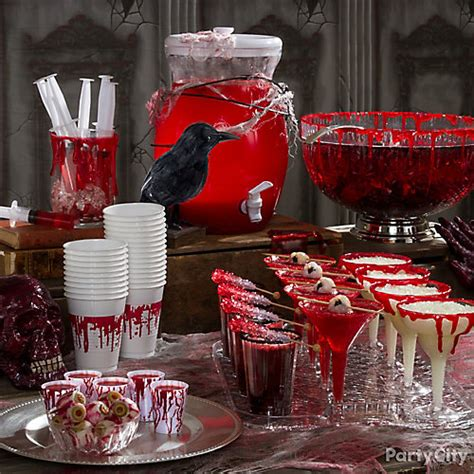 drink table decorating ideas bloody drinks table idea city