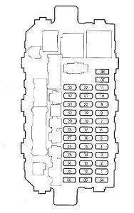Honda CR-V (2000 - 2001) - fuse box diagram - Auto Genius