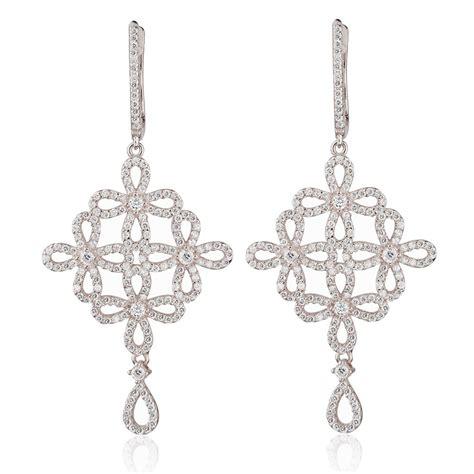 Silver Chandelier Earrings Uk Ingenious Silver Chandelier Earrings With Open Flowers Ingenious From Ingenious Jewellery Uk