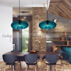 Modern Ceiling Lights For Dining Room Blue Glass Pendant Lamp Modern Bubble Design Ceiling Light