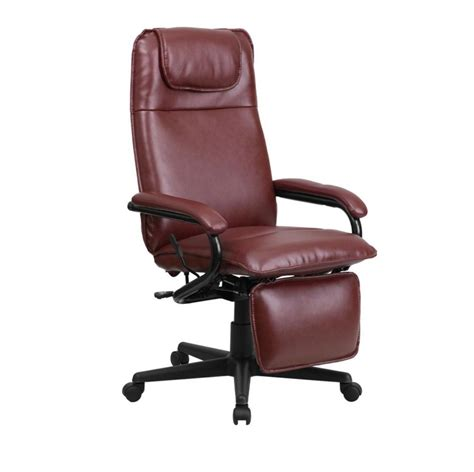 Reclining Back Chair by Flash Furniture High Back Burgundy Leather Executive Reclining Office Chair New Ebay