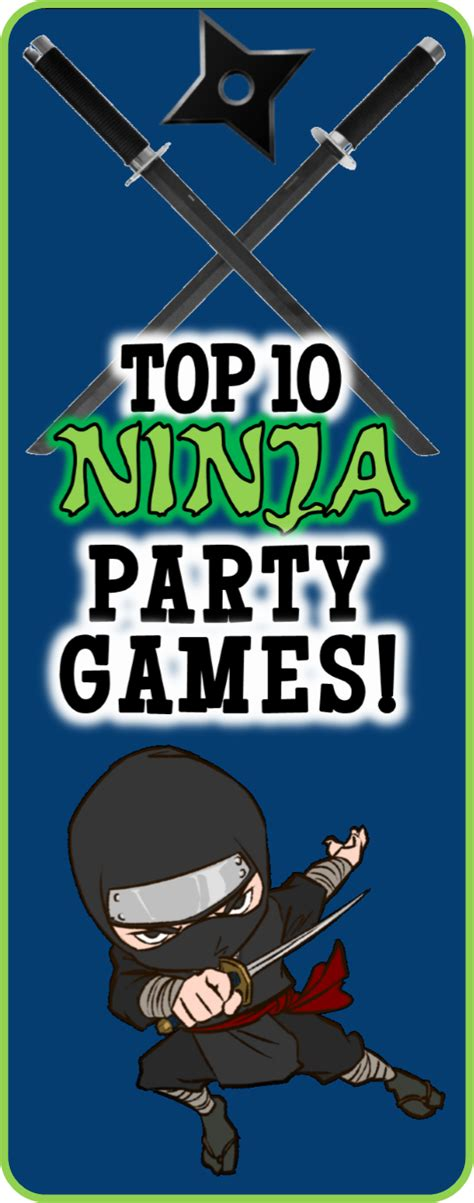 top 10 themes of games diy ninja party games for your little ninja s birthday