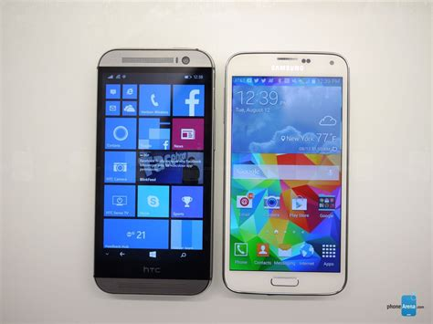 Samsung Windows htc one m8 for windows vs samsung galaxy s5 look phonearena reviews